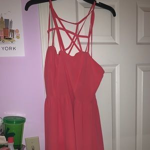 Forever 21 Strappy Pink Dress